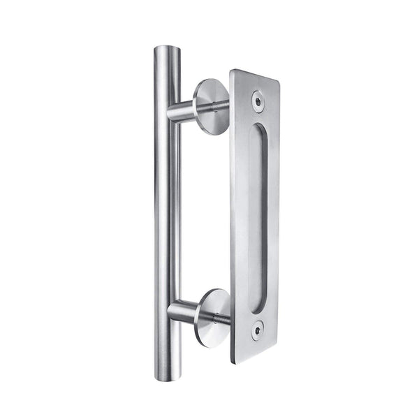 Barn Door Combo Handle - Stainless