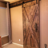 Modern X Brace Barn Door - RESERVED Megan