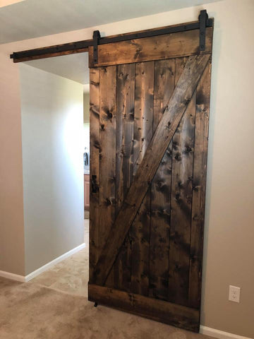 Dark Walnut Barn Doors