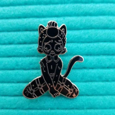 """Gold"" Neko Boi Hard Enamel Pin"