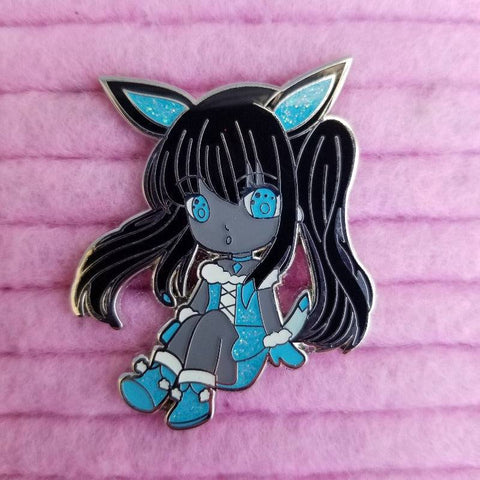 Shadow Glaceon Hard Enamel Pin