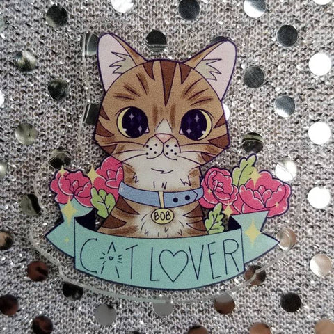 Cat Lover Acrylic Pin