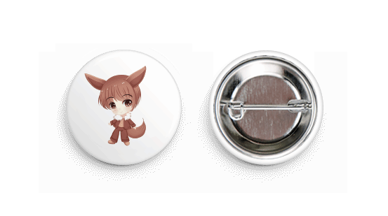 Eevee Inspired Chibi Boy Button Badge