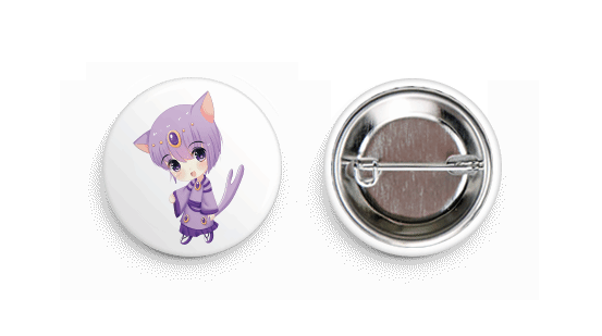 Espeon Inspired Chibi Boy Button Badge