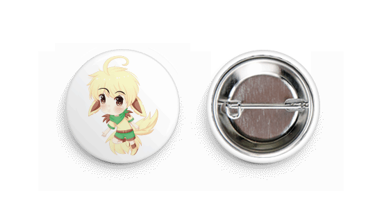 Leafeon Inspired Chibi Boy Button Badge