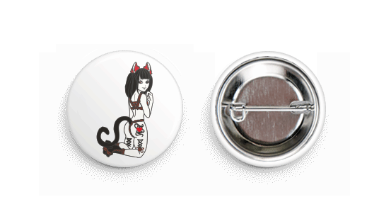 Neko-Meow Button Badge