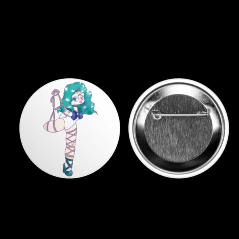 Shibari Scout Neptune Button Pin