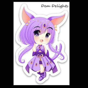 Espeon Inspired Chibi Vinyl Sticker
