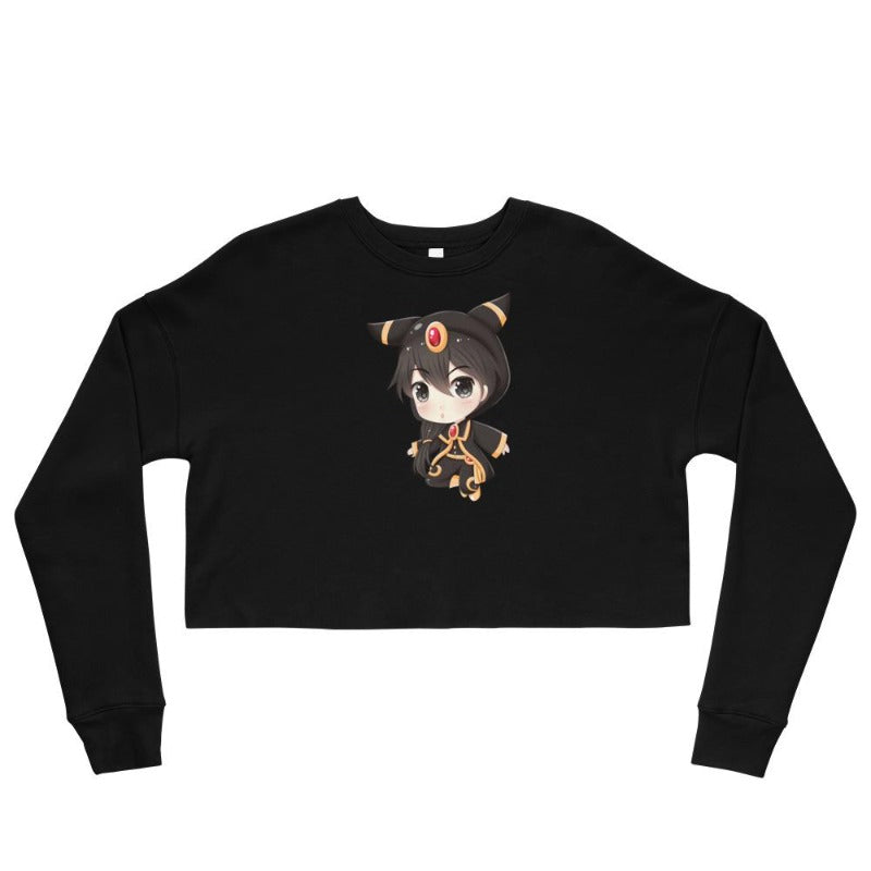 Dark Type Chibi Monster Crop Sweatshirt
