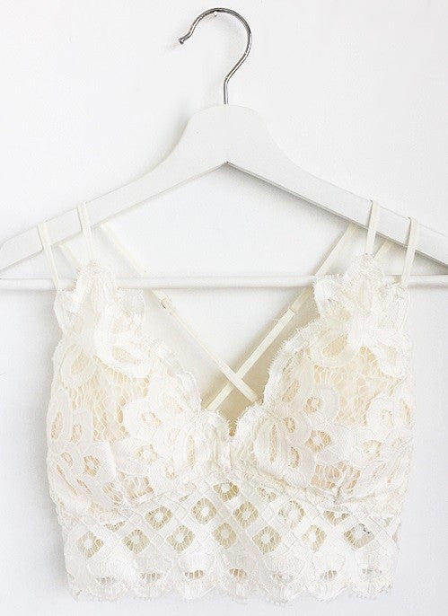 Lace Bralette in Off White