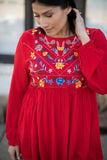 Ella Floral Blouse in Red - Final Sale - STONE AND WILLOW