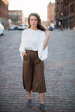 Hayley Fringe Cropped Pants - STONE AND WILLOW