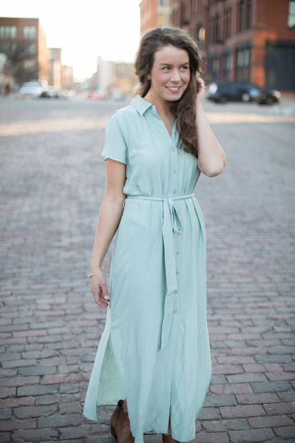 Spring Fever Button Down Dress - STONE AND WILLOW