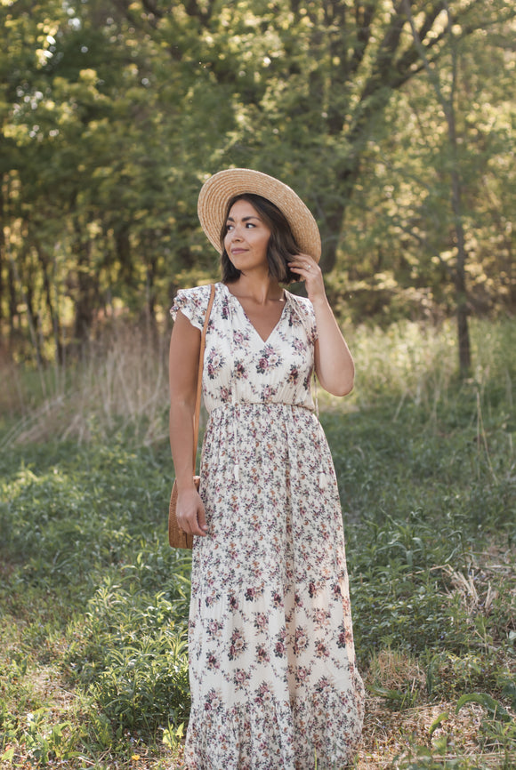 Evelyn Floral Maxi Dress