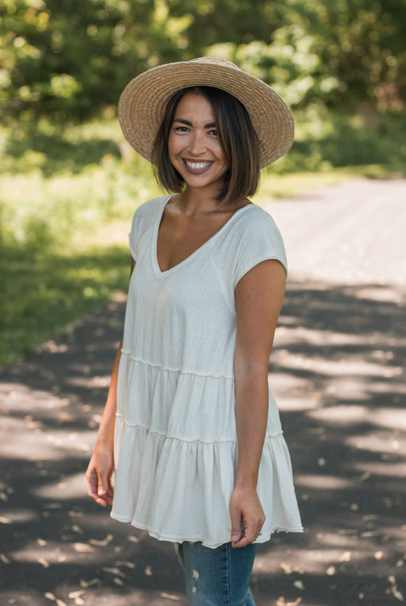 Julia Tiered Tunic - Natural