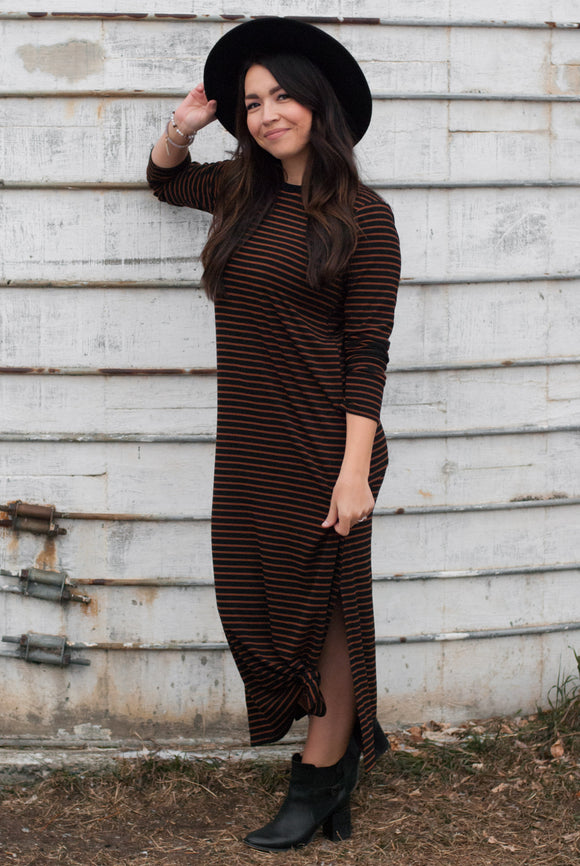Wesley Striped Midi