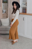 Lexi Ribbed Culotte Pants