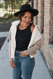 Contrast Teddy Jacket - DAILY DEAL