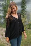 Presley Lace Top in Black