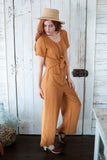 We Belong Together Mustard Jumpsuit - STONE AND WILLOW