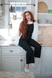 Walk This Way Ponte Knit Overalls - Final Sale - STONE AND WILLOW