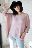 Kenzie Sweater in Blush - Final Sale - STONE AND WILLOW