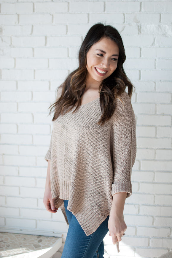 Kenzie Sweater in Taupe - Final Sale - STONE AND WILLOW