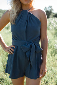 Selah Romper - Navy - STONE AND WILLOW