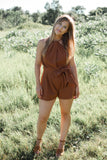 Selah Romper - Brick - STONE AND WILLOW