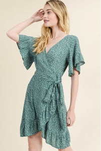 Remie Floral Wrap Dress