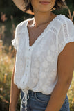 Sylvie Button Front Blouse White