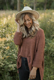 Clara Sweater in Dusty Clay