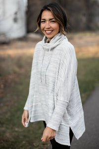 Brushed Marble Cowl Neck Top