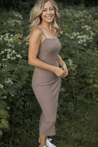 Lana Ribbed Midi Dress - FINAL SALE