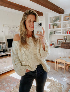 Rylann Hand Knit Sweater - FINAL SALE