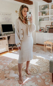 Abby Rib Knit Dress Set - FINAL SALE