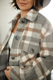 Oversized Plaid Coat **LIMITED QTY