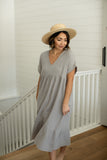 Oversized Gauze Midi Dress