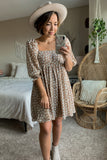 Indie Floral Babydoll Dress