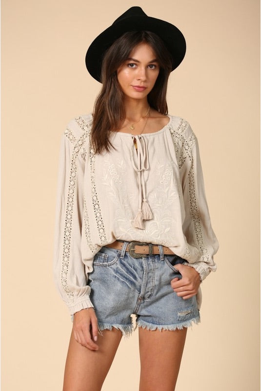 Greta Embroidered Blouse