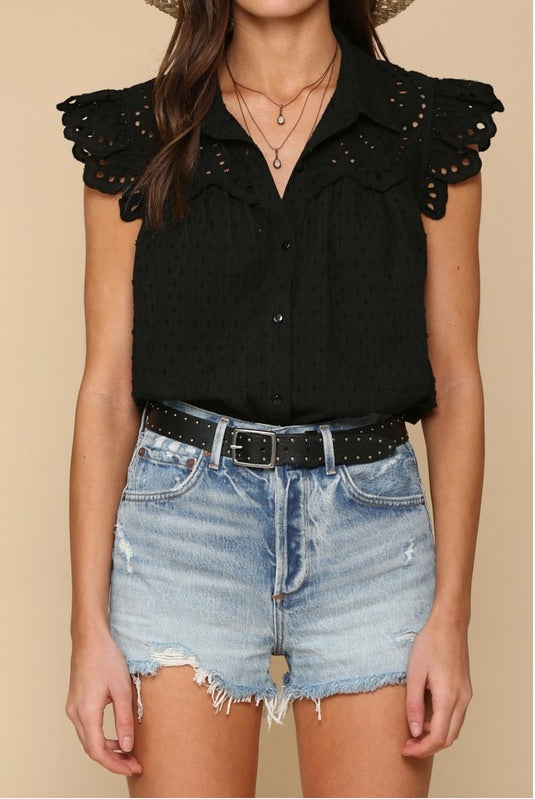 Dylan Eyelet Blouse - FINAL SALE