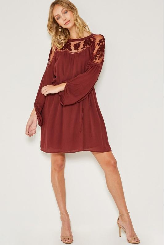 Clara Lace Embroidered Dress - STONE AND WILLOW