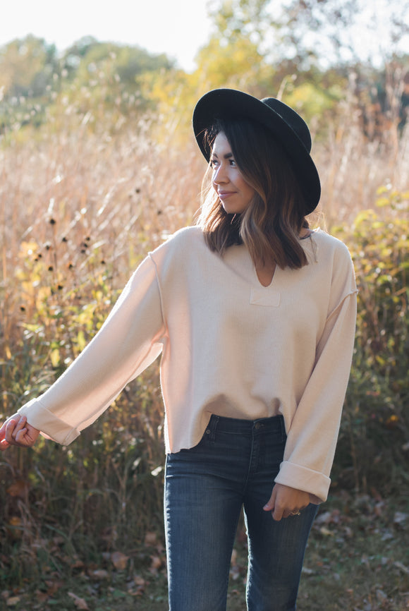 Inside Out Knit Top