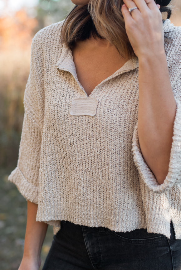 Slouchy Cropped Sweater