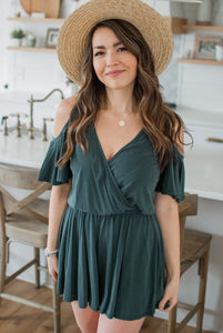 Juniper Cold Shoulder Romper - FINAL SALE