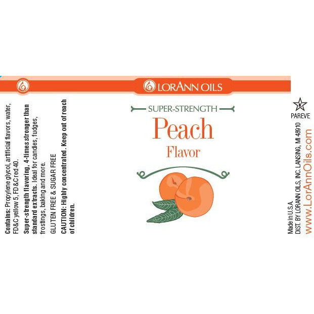 LorAnn Oils Peach Flavor  - 1 OZ