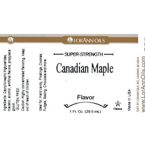 LorAnn Oils Canadian Maple Flavor - 16 OZ