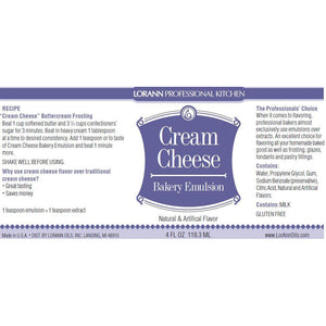 LorAnn Oils Cream Cheese, Bakery Emulsion   - 4 OZ