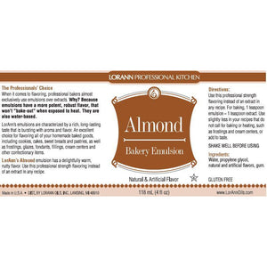 LorAnn Oils Almond, Bakery Emulsion   - 4 OZ