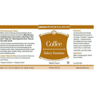 LorAnn Oils Coffee (Natural), Bakery Emulsion   - 4 OZ